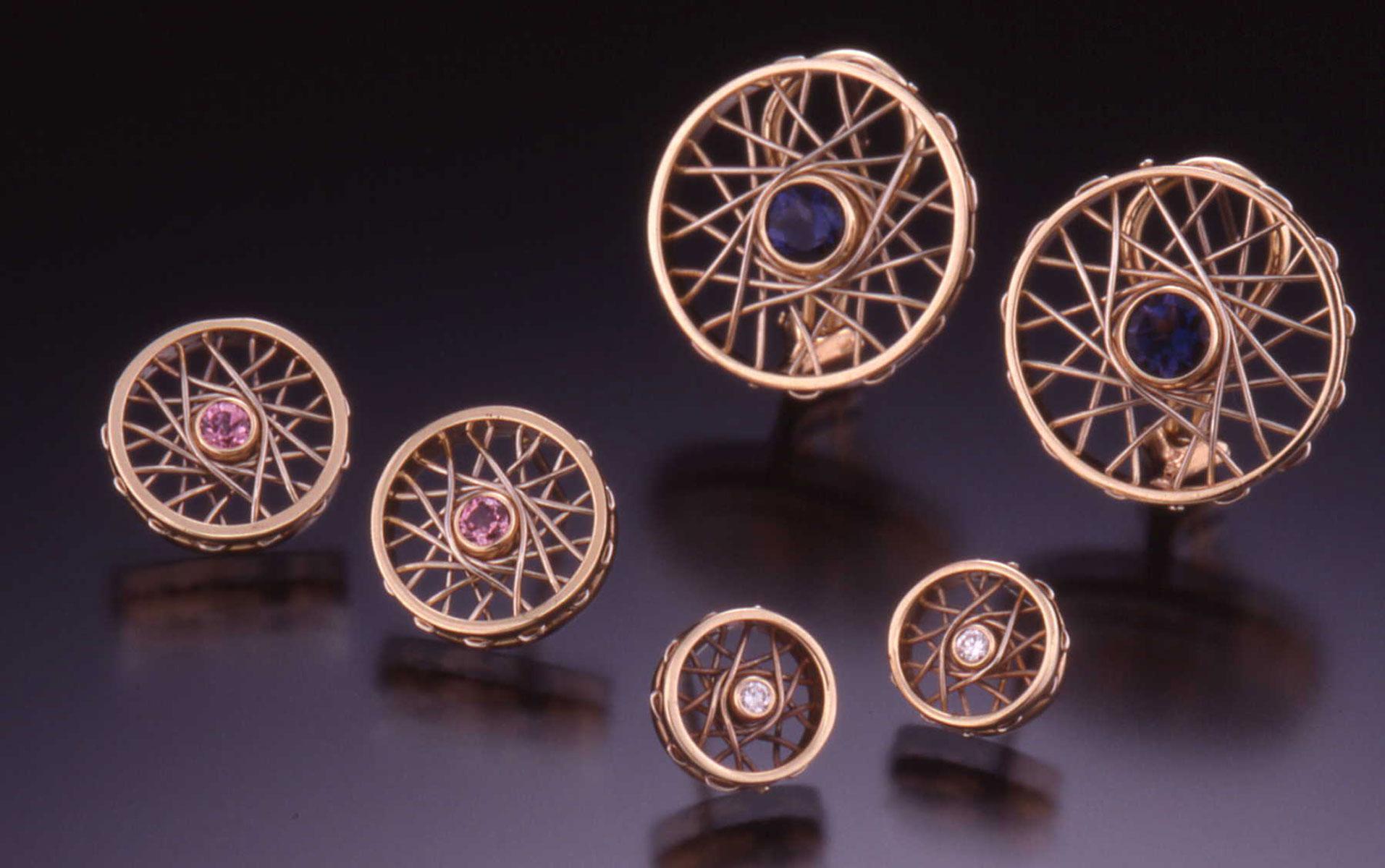 Cycles post earrings