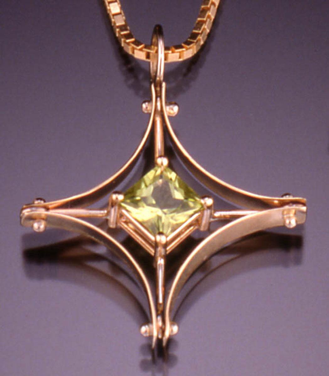 Princess pendant peridot