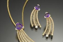 Comet pendant & earrings