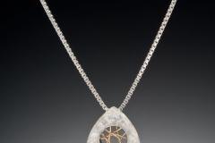 Spyro silver small triangle pendant