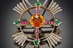 Compass Rose orange