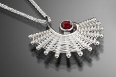 Fandango colored stone pendant
