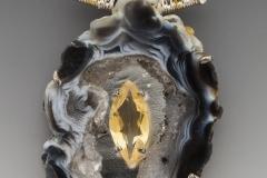 Fandango geode slice marquise citrine