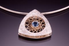 silver blue topaz triangle